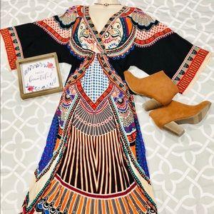 Flying💙🍅💚Tomato Boho-Aztec Maxi dress 💛🧡❤️💜